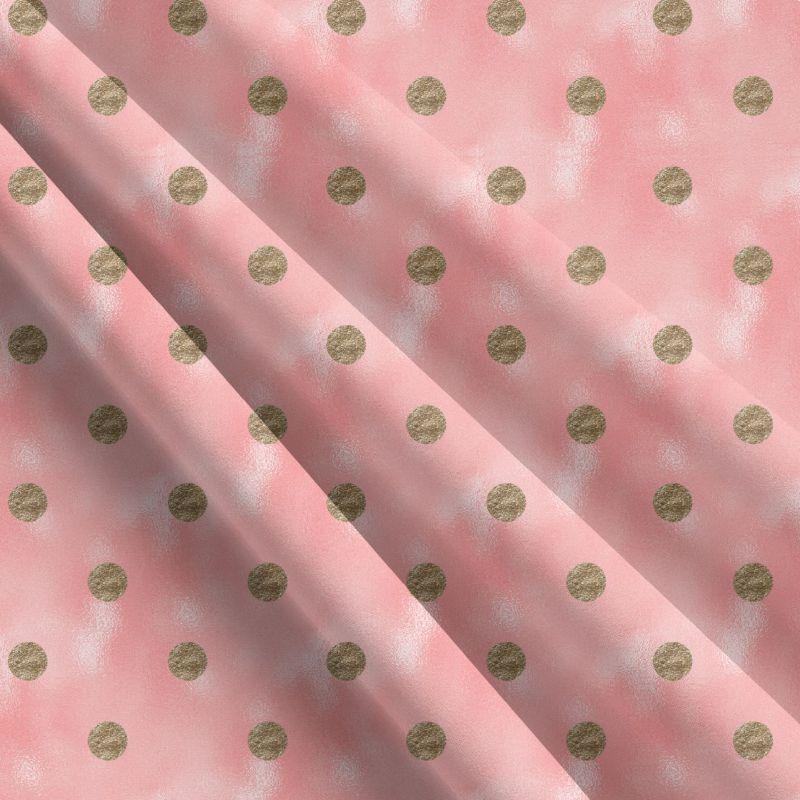 Zlaté puntíky na růžovém skle -sublimační digitální tisk mavaga design