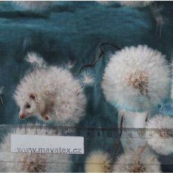 Jednolícní úplet ježečkové- digitální tisk vyrobeno v Turecku