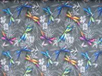 Teplákovina šedá vážky- 250 gsm EU-úplety atest pro děti