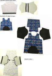 Panel oblečení na panenku vel 43 -panel 13 garzato vyrobeno v EU- atest pro děti bavlna