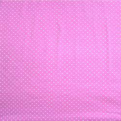 Jednolícní úplet světle růžová s MINI puntíky