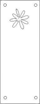 Koženkový štítek vyřezávaný malý- stříbrný varianty vyrobeno v EU