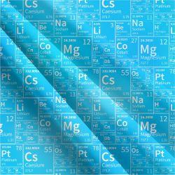 Chemie jasně modrá- digitální tisk   Funkční úplet TORINO 140 gsm, GARZATO - funkční úplet počesaný, LYCRA 200, Softshell zimní 320 gsm, Softshell jarní 285 gsm, Softshell letní pružný , Kočárkovina , Micropeach
