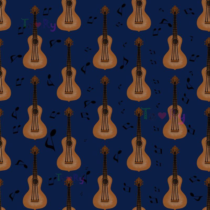 Autorský tisk TARY -kytary -sublimační digitální tisk mavaga design
