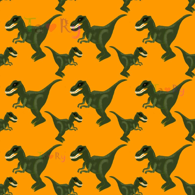 Autorský tisk TARY -dinosaurus -sublimační digitální tisk mavaga design