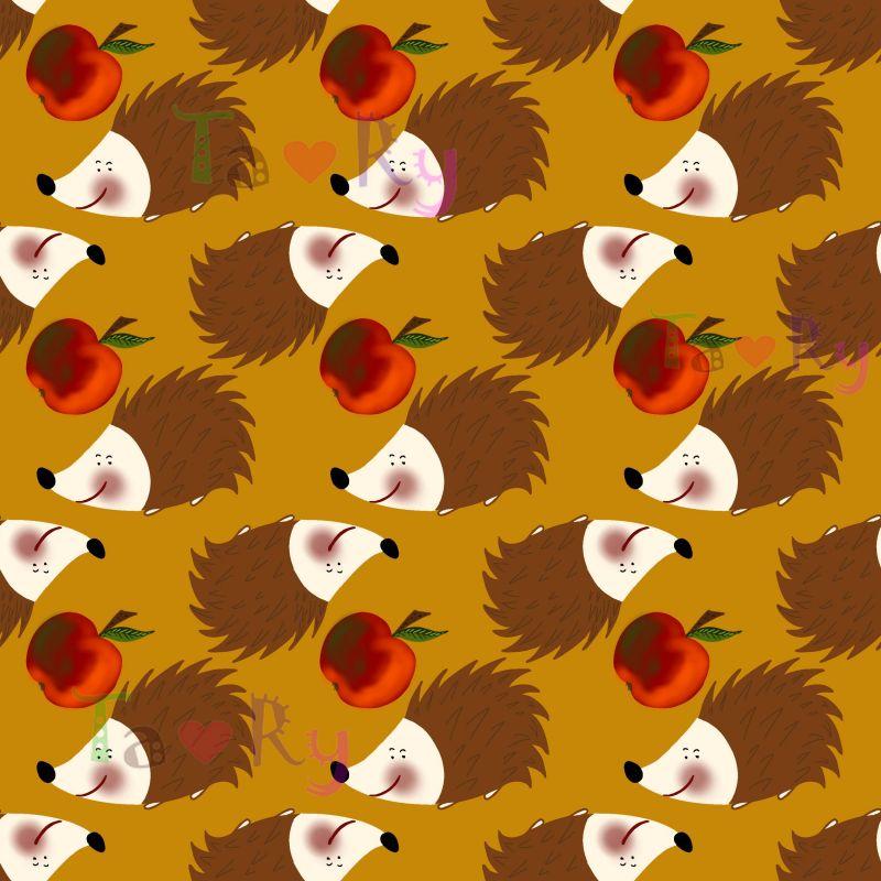 Autorský tisk TARY -ježečkové -sublimační digitální tisk mavaga design