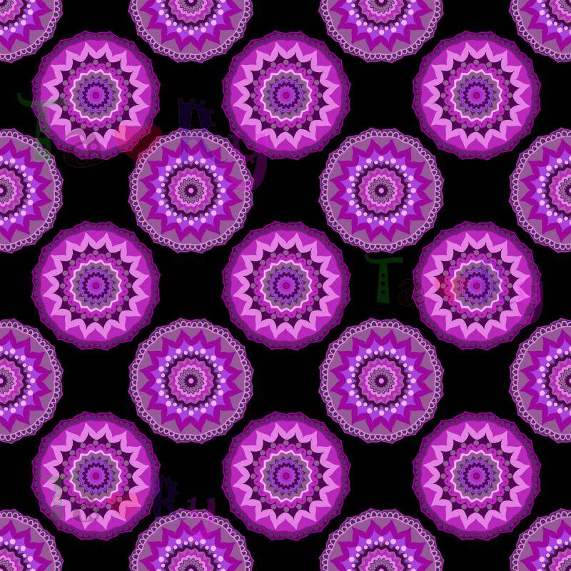 Autorský tisk TARY -fialové mandaly -sublimační digitální tisk mavaga design