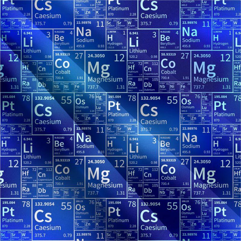Chemie modrá- digitální tisk mavaga design