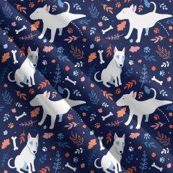 Funny bull terriers -sublimační digitální tisk | Funkční úplet TORINO 140 gsm, GARZATO 200gsm- funkční úplet počesaný, Kočárkovina , LYCRA 200, Micropeach, Softshell jarní 285 gsm, Softshell letní pružný 220gsm, Softshell zimní 320 gsm