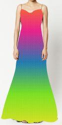 PANEL na šaty / triko/leginy -duhový přechod +stopa- varianty mavaga design