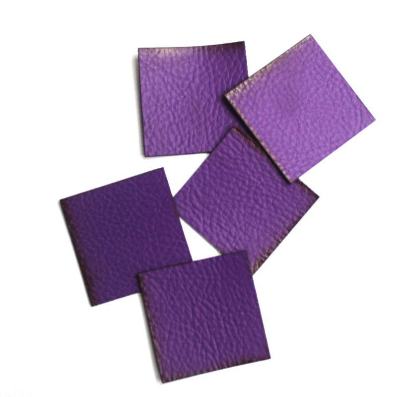 Koženkový čtvereček -fialová 74 vyrobeno v EU