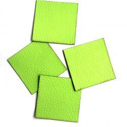 Koženkový čtvereček - jasně zelená 76