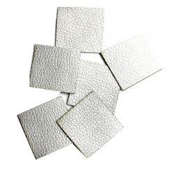 Koženkový čtvereček - stříbrná vyrobeno v EU