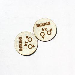 """Koženkový štítek gravír - """" design by  světlá """""""