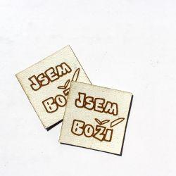 """Koženkový štítek gravír - """" jsem boží světlá  """""""