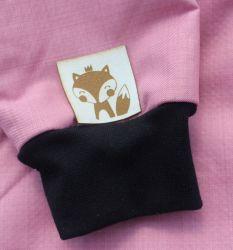 """Koženkový štítek gravír - """" od maminky srdíčko SVĚTLÝ MALÉ """" vyrobeno v EU"""