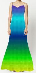 PANEL na šaty / triko/leginy -duhový přechod +stopa2- varianty mavaga design