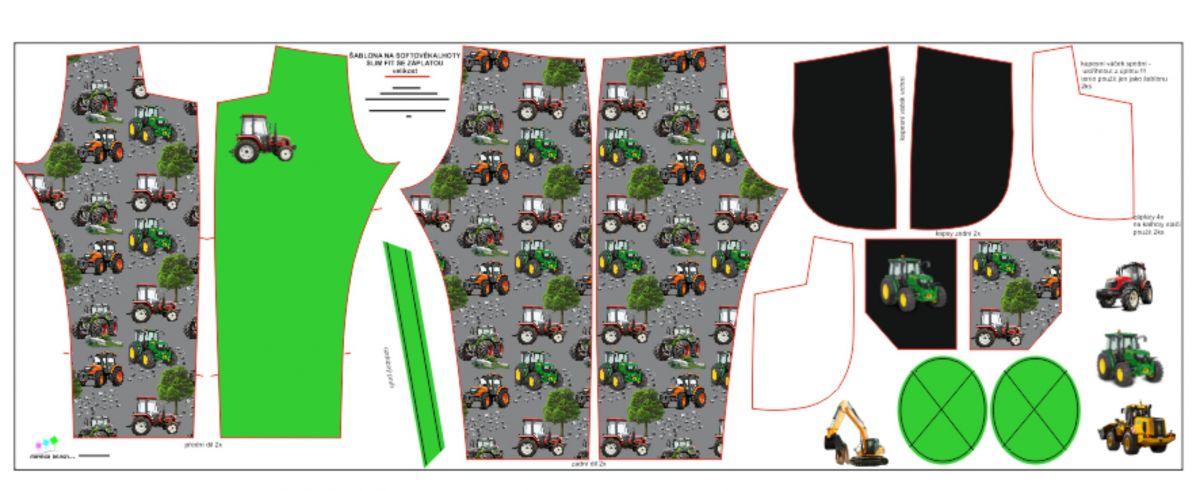 Panel na softshelové kalhoty -DESEN 3 mavaga design