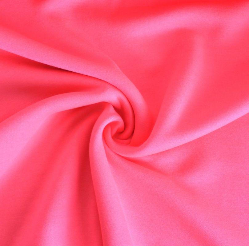 Teplákovina fluo růžová počesaná - 320 gsm vyrobeno v Turecku