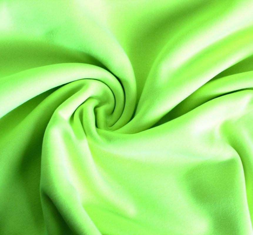 Teplákovina fluo žluto-zelená počesaná - 320 gsm vyrobeno v Turecku