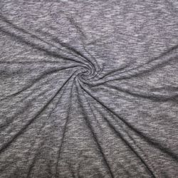 Teplákovina černo-šedá mellange