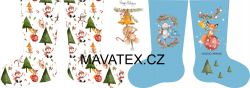 PANEL vánoční punčocha- desén 2
