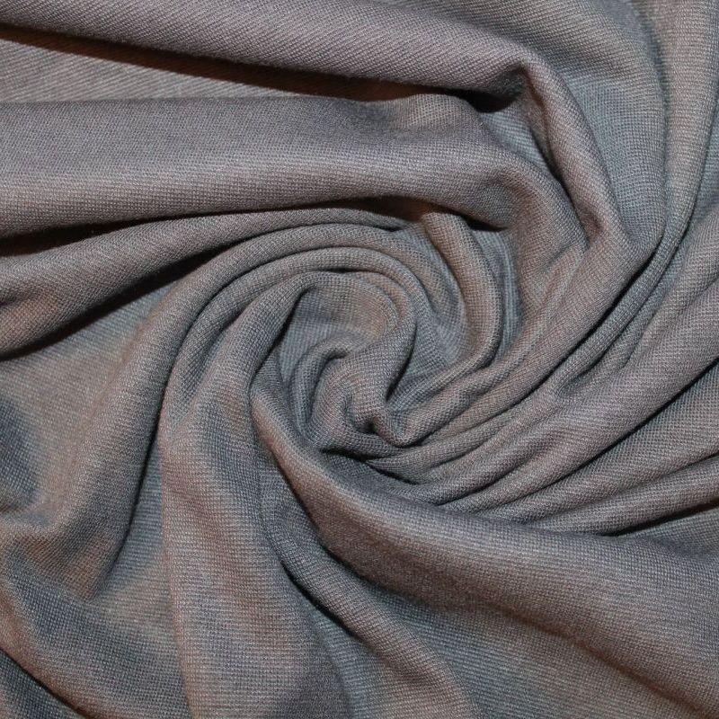 Rib 1x1 tmavě šedá- mouse - barva 138 EU-úplety atest pro děti