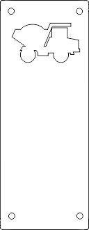 Koženkový štítek vyřezávaný malý- bílý varianty vyrobeno v EU