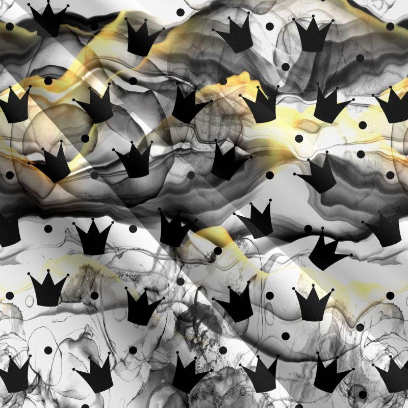 Černé korunky černém kouři-sublimační digitální tisk mavaga design