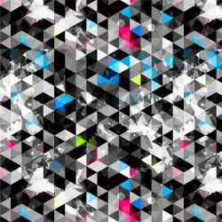 Různobarevné trojúhelníky -sublimační digitální tisk   Funkční úplet TORINO 140 gsm, GARZATO 200gsm- funkční úplet počesaný, Kočárkovina , LYCRA 200, Micropeach, Softshell jarní 285 gsm, Softshell letní pružný 220gsm, Softshell zimní 320 gsm, DOLOMITY