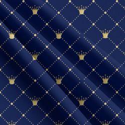 Zlaté korunky na modré -sublimační digitální tisk | DOLOMITY, Funkční úplet TORINO 140 gsm, GARZATO 200gsm- funkční úplet počesaný, Kočárkovina , LYCRA 200, Micropeach, Softshell jarní 285 gsm, Softshell letní pružný 220gsm, Softshell zimní 320 gsm