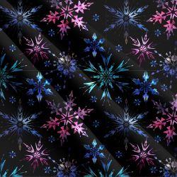 Glitrový vločky na černé-sublimační digitální tisk | DOLOMITY, Funkční úplet TORINO 140 gsm, GARZATO 200gsm- funkční úplet počesaný, Kočárkovina , LYCRA 200, Micropeach, Softshell jarní 285 gsm, Softshell letní pružný 220gsm, Softshell zimní 320 gsm