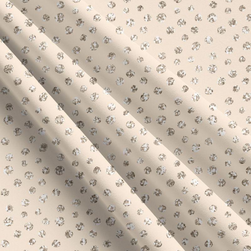 Glitrový puntík na okrové-sublimační digitální tisk mavaga design