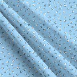 Glitrový puntík na světlé modré-sublimační digitální tisk | DOLOMITY, Funkční úplet TORINO 140 gsm, GARZATO 200gsm- funkční úplet počesaný, Kočárkovina , LYCRA 200, Micropeach, Softshell jarní 285 gsm, Softshell letní pružný 220gsm, Softshell zimní 320 gsm