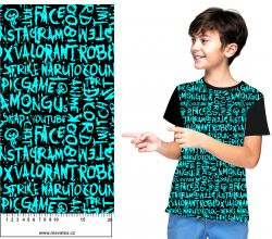 Modré texty- digitální tisk mavaga design