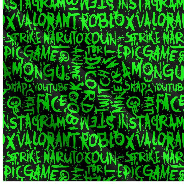 Zelené texty- digitální tisk mavaga design
