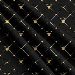 Zlaté korunky na černé -sublimační digitální tisk | DOLOMITY, Funkční úplet TORINO 140 gsm, GARZATO 200gsm- funkční úplet počesaný, Kočárkovina , LYCRA 200, Micropeach, Softshell jarní 285 gsm, Softshell letní pružný 220gsm, Softshell zimní 320 gsm