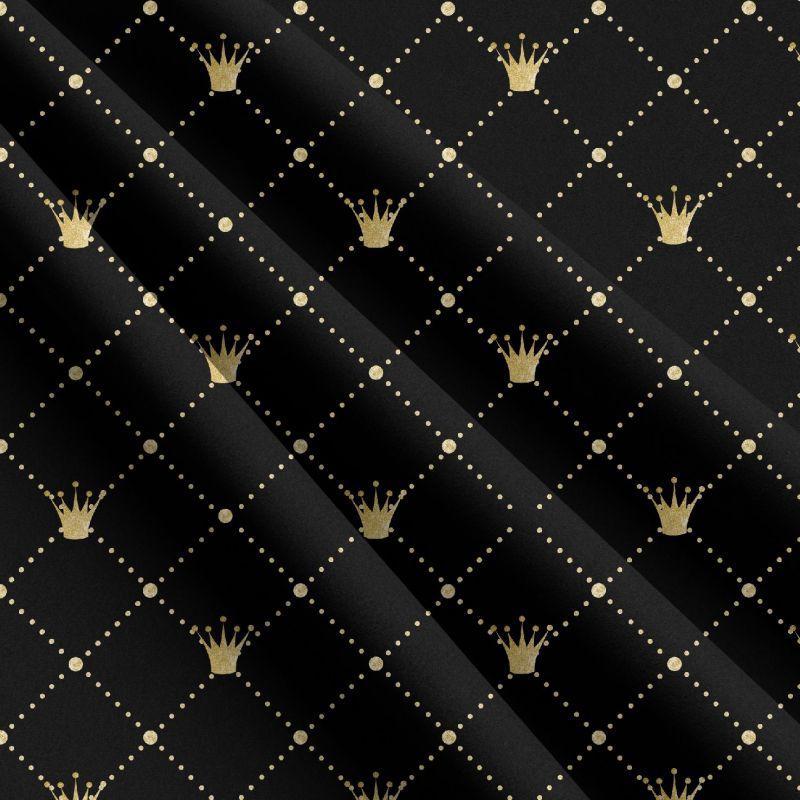 Zlaté korunky na černé -sublimační digitální tisk mavaga design
