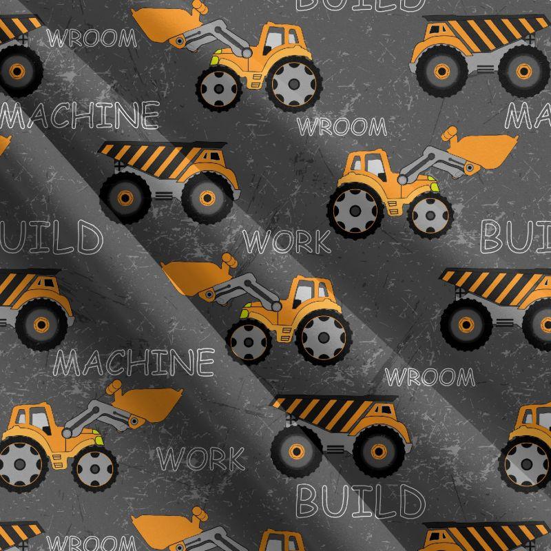 Teplákovina žluté nakladače na poškrábané zdi- 270 gsm EU-úplety atest pro děti
