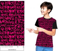 Malinové texty- digitální tisk mavaga design