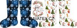 PANEL vánoční punčocha- desén 1 vyrobeno v EU