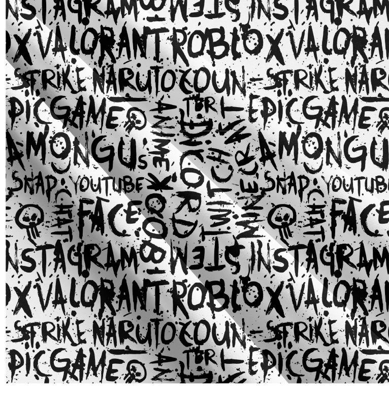Populární texty na bílé- digitální tisk mavaga design