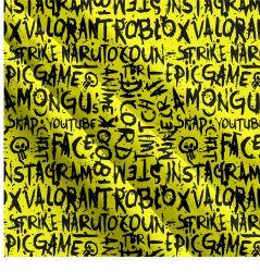 Populární texty na žluté- digitální tisk | Funkční úplet TORINO 140 gsm, GARZATO - funkční úplet počesaný, LYCRA 200, DOLOMITY, Softshell zimní 320 gsm, Softshell jarní 285 gsm, Softshell letní pružný , Kočárkovina , Micropeach