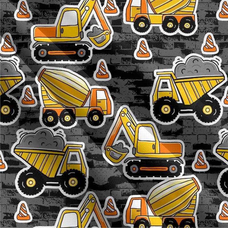 BERÁNEK softshell žluté nakladače -desén 430 mavaga design