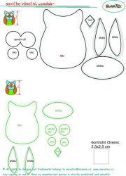 jak ušit sovu , jak ušít textilní doplňky , jak udělat sovu Mavatex