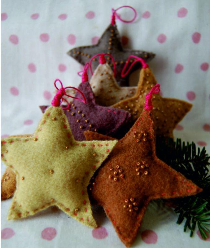 návod na hvězdu, vánoční aplikace, jak ušití vánoční ozdoby Mavatex