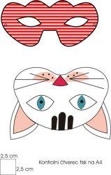 návod na karnevalový kostým, karnevalová maska, Mavatex