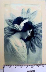 Panelový tisk - vintage dívka