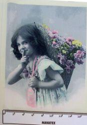 panelový tisk - dívka s nůší- tisk obrázků, obrázky na látce Tukan
