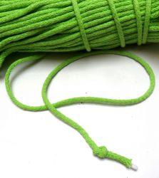 Oděvní tkanice jablíčková - kulatá bavlněná